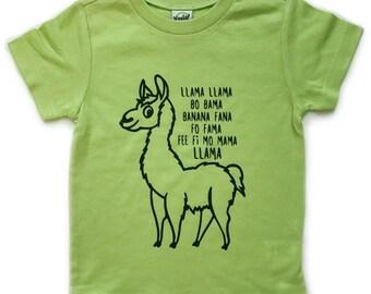 Llama Llama tee for infants, toddlers, and children/ Toddler Clothes / Infant Clothes / Toddler Shirt / Infant Shirt / Llama Shirt