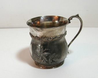 The Van Bergh S. P. Co. Rochester, N.Y. Etched Silver Cup