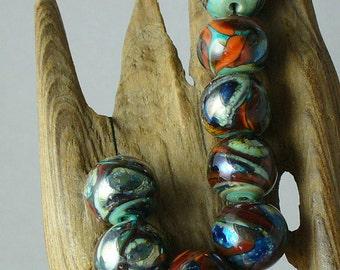 Perles de verre filé au chalumeau SRA par Catalinaglass les planètes