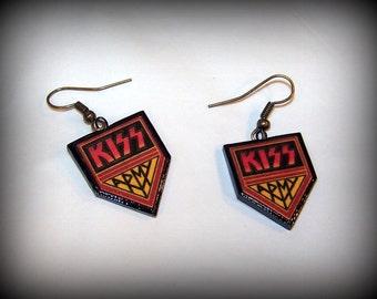 Kiss Army Earrings Handmade Polymer Clay