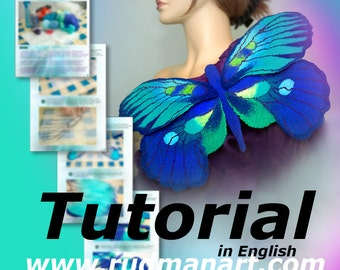 Felted Big Butterfly, Brooch, Pin, Wall Desing, Tutorial in English PDF