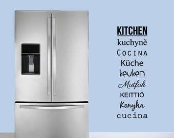 Words for Kitchen - Kitchen Quote Wall Decals