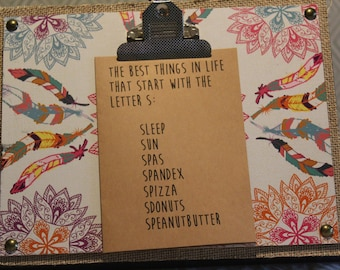 ClemmieLouCards -The best things in life start with S - greeting card