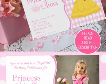 Princess Party Invitation | Princess Birthday Invitation | Cinderella Invitation | Princess Invitation | Amanda's Parties To Go
