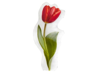 Red Tulip Printed Pillow