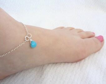 Anklets for Women,  Beach Wedding, Beachy anklet, Sterling Silver Anklet, Summer Wedding, Ankle Bracelet