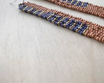 NEW Flat Stitch Off Loom Skinny peach huckleberry yellow gold