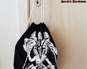 baphomet satanic backpack bag