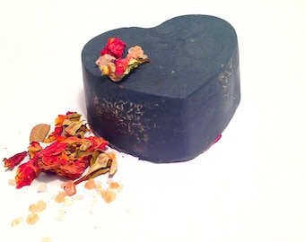 Unscented Rose Activated Charcoal Double Butter Soap Charcoal Soap Chsrcoal Mask unscented SoapFragrance Free