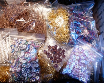 15,510+ PiEcEs InDiViDuAl JeWeLrY FiNdInGs & 800+ EaRnUts -- Enough Supplies to OPEN YoUr OwN JeWeLrY SuPpLy SHOP - Some Vintage Findings