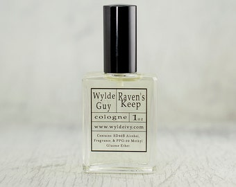 Raven's Keep Wylde Ivy Guy Men's Cologne 1oz with notes of Black Pepper, Woods, Vanilla, Myrrh, and Tonka Bean