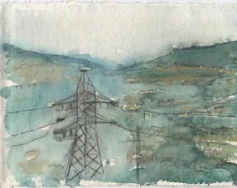 Pylon in Ecuador, painting