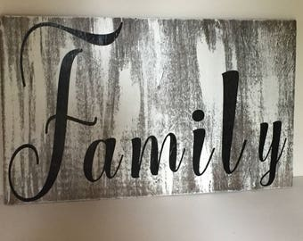 distressed wooden signs - family sign - custom signs - rustic signs - distressed signs - wood wall art - gifts for mom