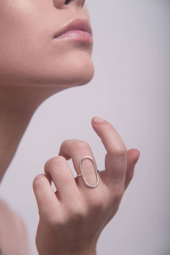 Statement open oval ring