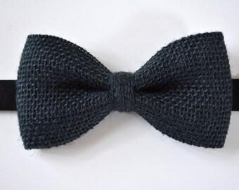 Burlap bow ties for men black,black burlap,burlap weddings