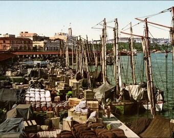 Poster, Many Sizes Available; Muelle San Francisco, Havana, Cuba, 1904 #031215