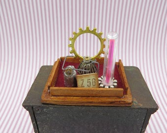 Steampunk circuit inside a case in 1:12 scale