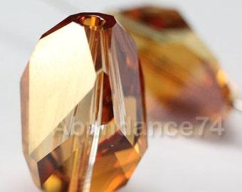 4 pcs Swarovski Elements - Swarovski Crystal 5650 12mm CUBIST - COPPER