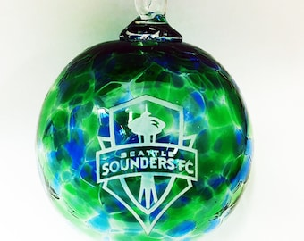 Seattle Sounders FC Blown Glass Ornament