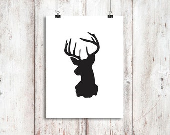 DEER HEAD - Digital Download, Printable 8x10 Decor & Gift Prints