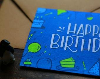 Blank Inside Birthday Card