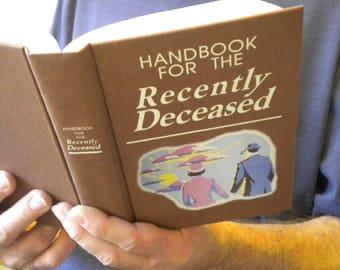 Beetlejuice Handbook for the Recently Deceased Book / movie prop / Zombie, Dead, Undead, Halloween Decor, Beatlejuice