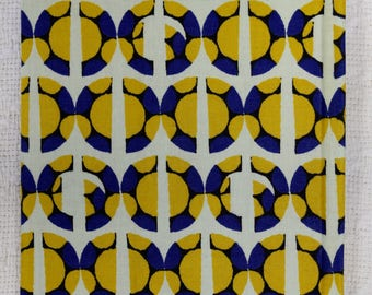 Yellow and Purple Circles African Wax Print Notebooks