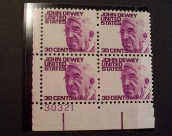 US Plate Block of 4 - Scott #1291 - John Dewey - MNH - (1968) *50 Yrs.Old!!