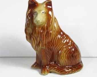 Figurine de MC Brésil vintage Collie chien statue en céramique