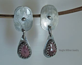 Pink Sapphire Amulet Earrings