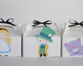 Alice in Wonderland Party Favor Boxes