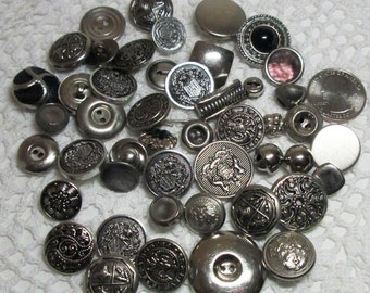 Lot of Silver Tone buttons