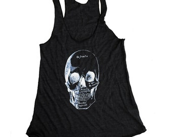 Anatomical Skull Tank Top - Tri-Blend Tank - (Available in sizes S, M, L, XL)