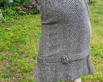 50s Skirt, Vintage Skirt, Metal Zipper, Ernest Donath, Skirt Wear, Herringbone Pattern, Vintage Costume, Tweed Skirt, Pleated Skirt, Midi