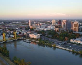 Aerial Photography of Downtown Sacramento, California