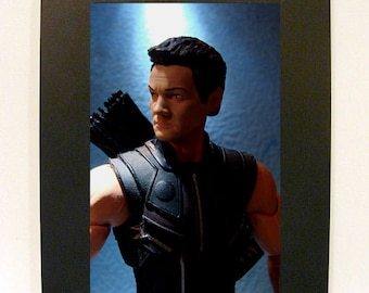 "Toy Photography Avengers Hawkeye Action Figure Framed 4"" x 6"""