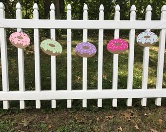 Donut Banner - Donut Birthday - Donut Party - Donut Garland - First Birthday - Donut Birthday Party - Bridal Shower - Baby Shower -Sprinkle
