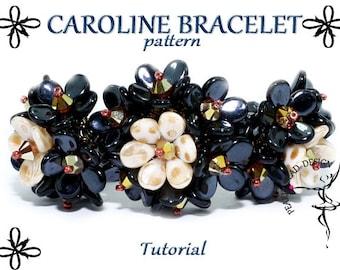 CAROLINE BRACELET pattern with PIP beads tutorial