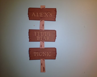 Teddy Bear Picnic Party Welcome Sign