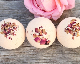 Bath Bombs, Bath Fizzies, Spa Gift Set, Coconut Rose, Gift Sets, Gifts For Her, Home and Living, Bridesmaid Gift, Wedding Favors, Soft Skin