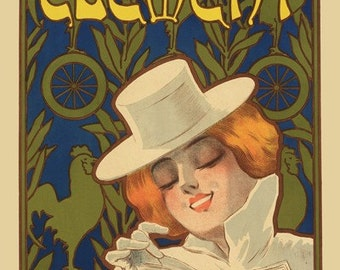Clement Bicycle Poster (#0911)  6 sizes