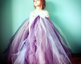 The Elisabeth - Tulle Tutu Dress - SEWN Flower Girl tutu dress -  your choice of colors and length - Weddings, photos, parties