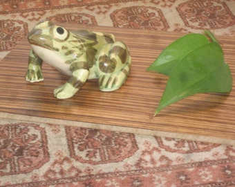 Ceramic Frog , Military Gift , Camouflage Frog , Garden Frog , Frog