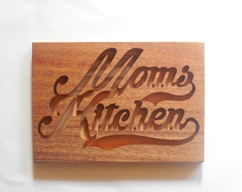 Moms kitchen plaque