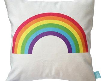 Rainbow Accent Pillow, Kids Cushion Cover, Decorative Pillow, Modern Nursery Pillow, Rainbow Kids Pillow, Throw Pillows