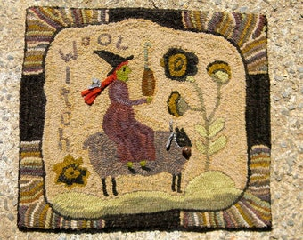 Wool Witch - Rug Hooking Pattern on LINEN - from Notforgotten Farm™