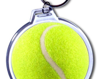 Personalized Tennis Ball Keychain - 2 Size Choices