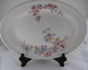 Vtg Knowles Ivory Color Platter