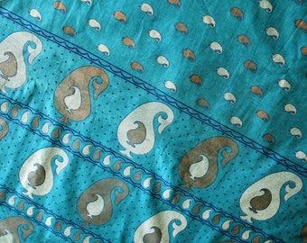 Sari Indian woven cotton 110 cm x 100 cm square