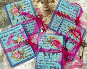 SOUL SISTER KiNDNESS SeTs greeting card print atc collage art therapy friendship hope recovery healing survivor
